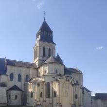 Outside the abbey church